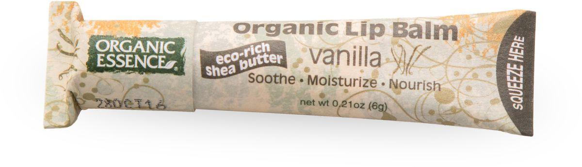 Organic Essence Органический бальзам для губ, Ваниль 6 г