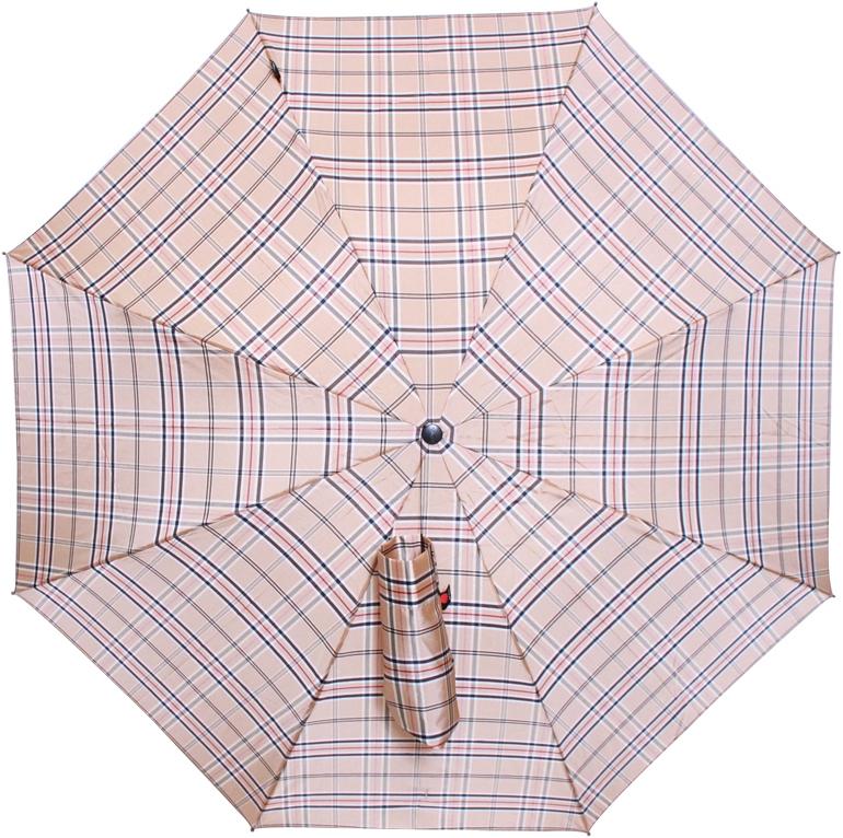 Зонт женский Knirps, полуавтомат, 3 сложения, цвет: бежевый. 824539