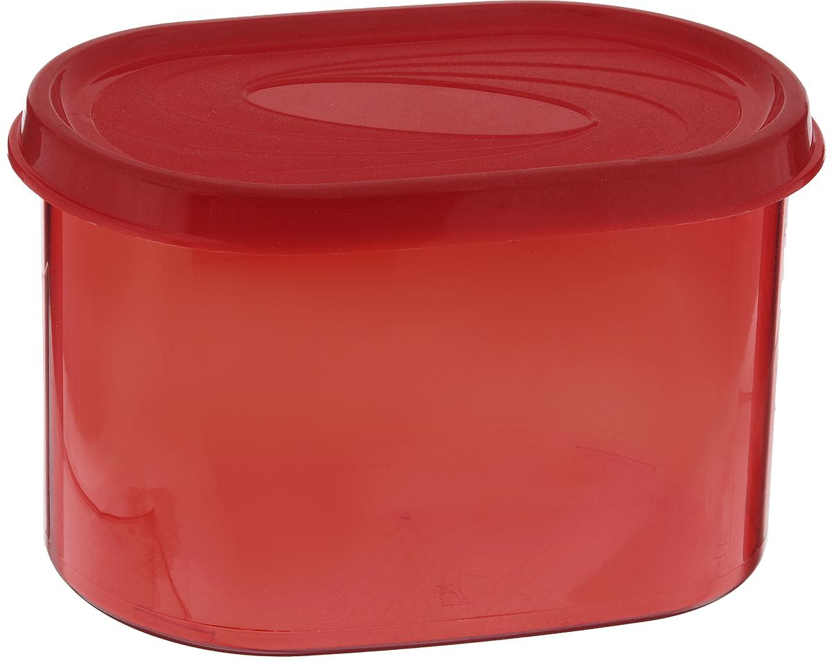 Банка для сыпучих продуктов Giaretti, цвет: красный, 800 мл банка для сыпучих продуктов giaretti цвет фиолетовый 800 мл