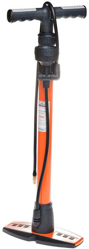 Фото - Насос Airline, ручной, с манометром, цвет: оранжевый, черный насос воздушный airline pa 500 03 500 500см3 с манометром