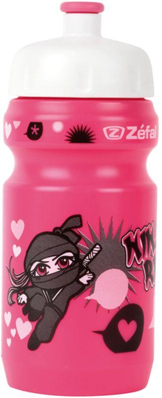Фляга велосипедная Zefal Little Z - Ninja Girl, детская, цвет: черный, 350 мл фляга велосипедная zefal magnum цвет белый 1 л 164с