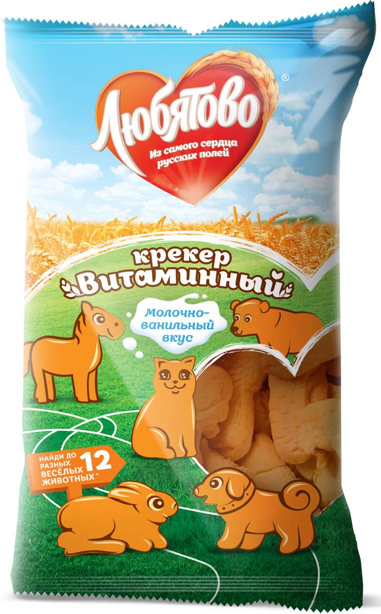 Любятово крекер витаминный, 300 г любятово печенье мария 500 г