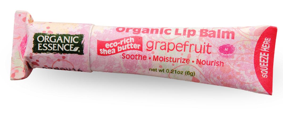 Organic Essence Органический бальзам для губ, грейпфрут 6 г