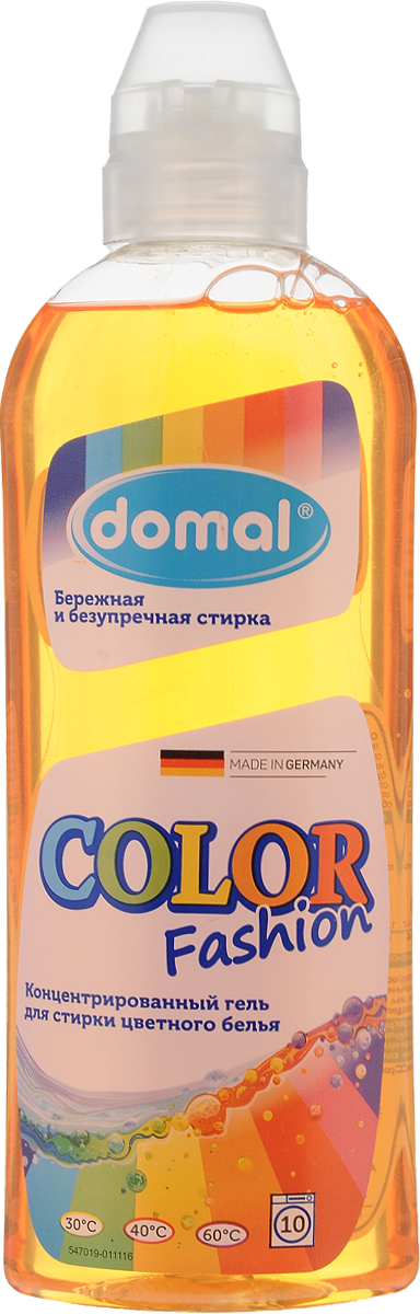 Гель для стирки Domal Color Fashion, концентрированный, цветного белья, 375 мл