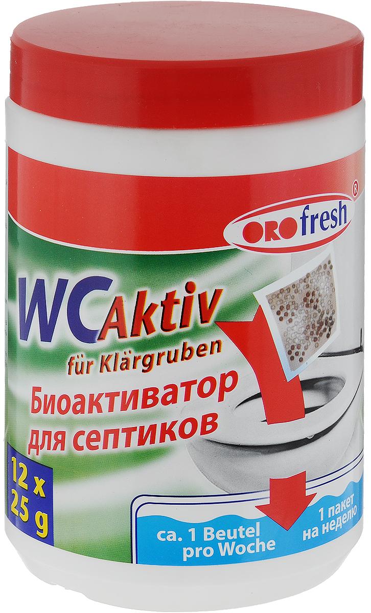 Биоактиватор для септиков ORO-Fresh WC Aktiv, 12 пакетиков х 25 г
