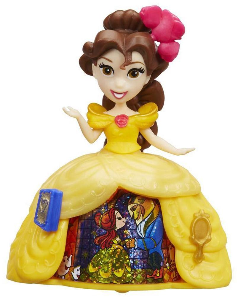 Disney Princess Мини-кукла Принцесса Бель в платье с волшебной юбкой disney princess кукла бель в юбке с проявляющимся принтом