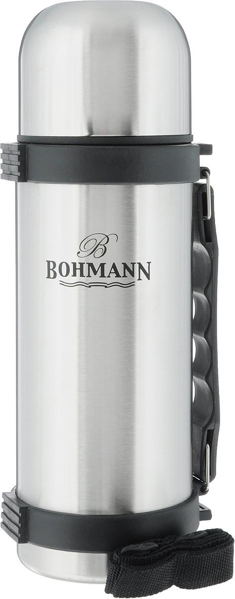 """Термос """"Bohmann"""", цвет: стальной, черный, 750 мл"""