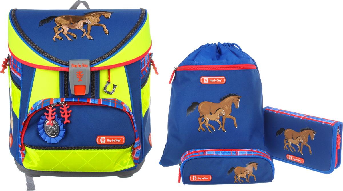 d2dee7161dd5 Hama Step by Step Ранец школьный Light Din Horse Family с наполнением 3  предмета — купить в интернет-магазине OZON.ru с быстрой доставкой