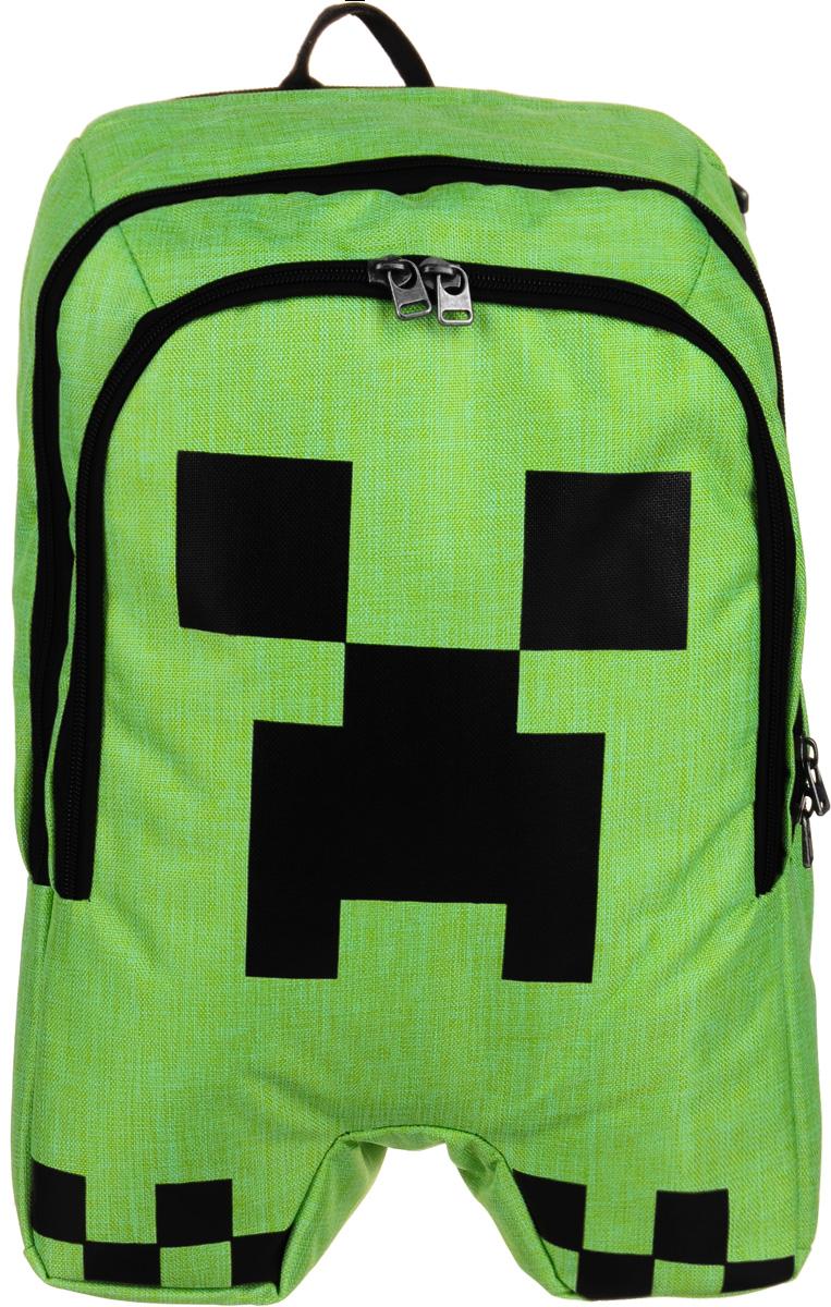 Рюкзак Minecraft Creeper Backpack, цвет: зеленый, черный. N00371 рюкзак minecraft
