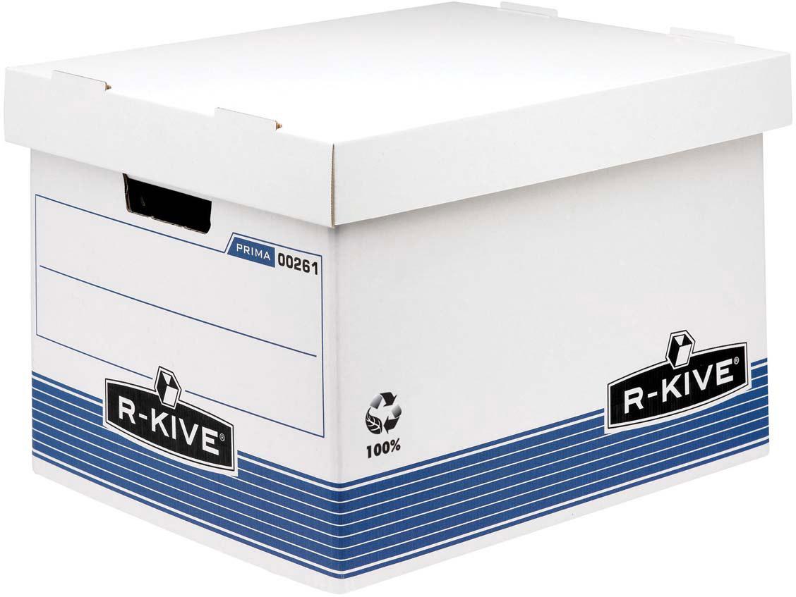 Fellowes R-Kive Prima Standard архивный коробCRC00261Архивный короб с крышкой R-Kive Prima FS-0026101 обеспечивает компактное хранение документов и эргономичную организацию рабочего пространства. Усиленная конструкция стенок и основания короба из картона. Мгновенная сборка за счет технологии FastFold. Высокая крышка позволяет размещать в коробе подвесные папки формата А4.