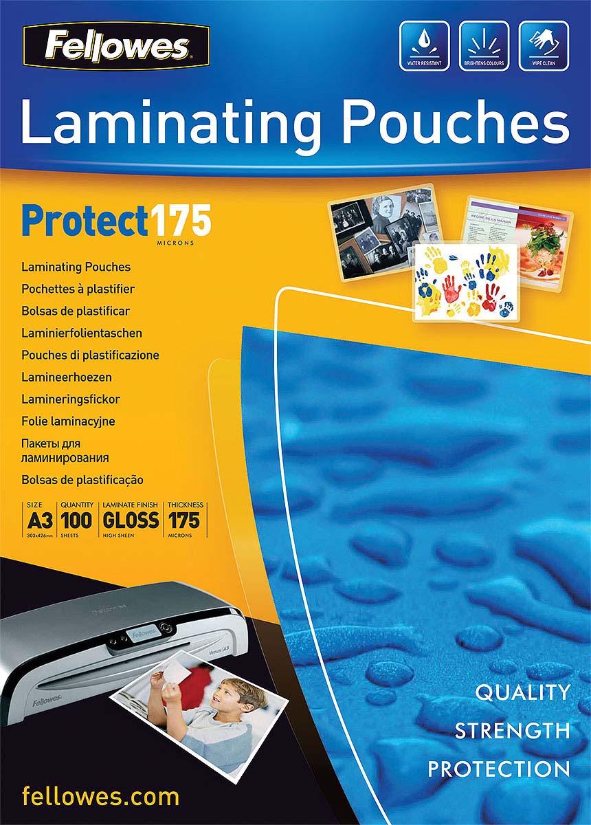 Fellowes А3 FS-53088 пленка для ламинирования, 175 мкм (100 шт) цены онлайн