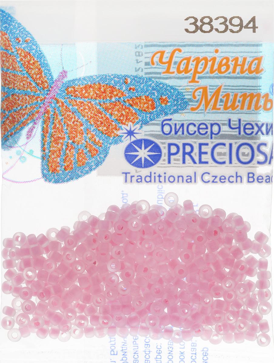 Бисер Preciosa, матовый, с цветной серединой, цвет: розовый (38394), 10/0, 5 г. 544203_38394 бисер preciosa прозрачный матовый с цветной серединой цвет светло серый 38342 5 г