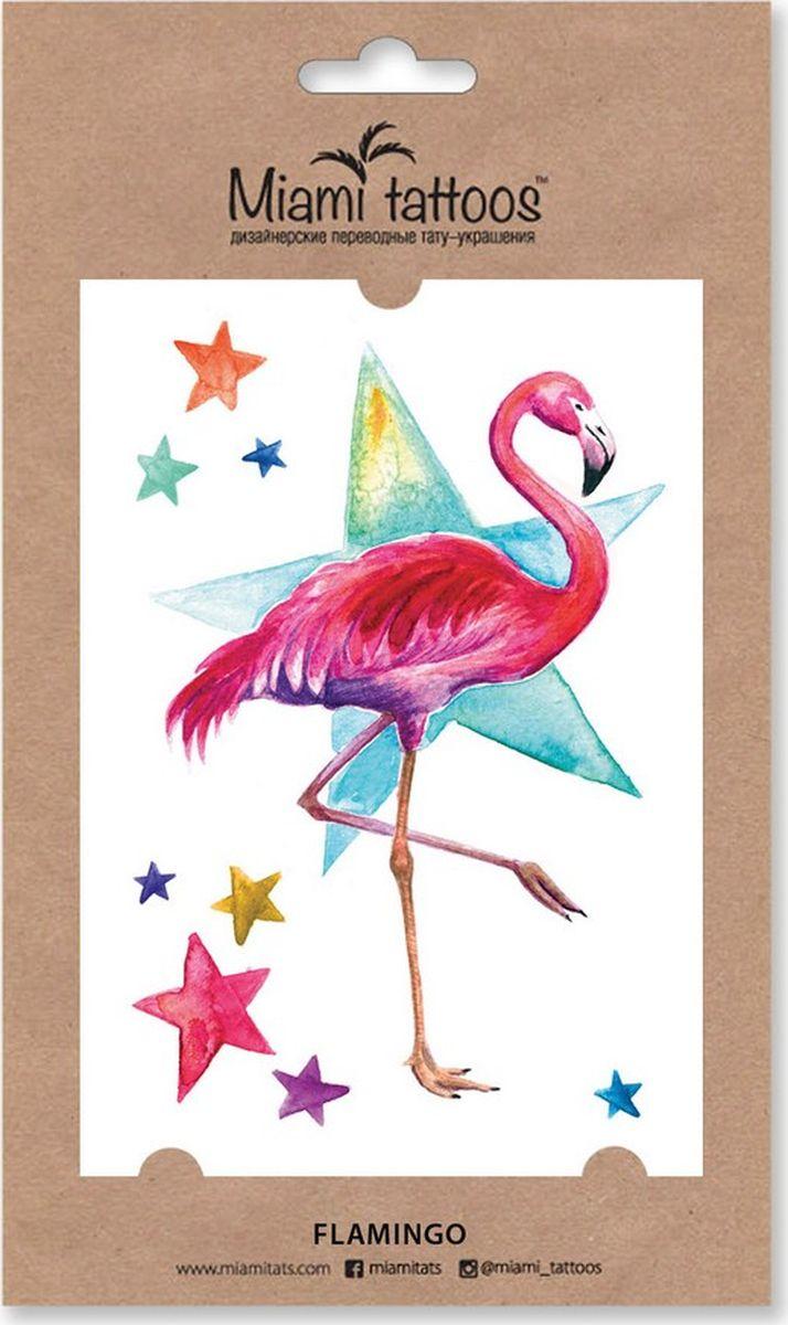 Фото - Miami Tattoos Акварельные переводные тату Flamingo 1 лист 10см*15см акварельные переводные тату miami tattoos branches 1 лист 10см 15см