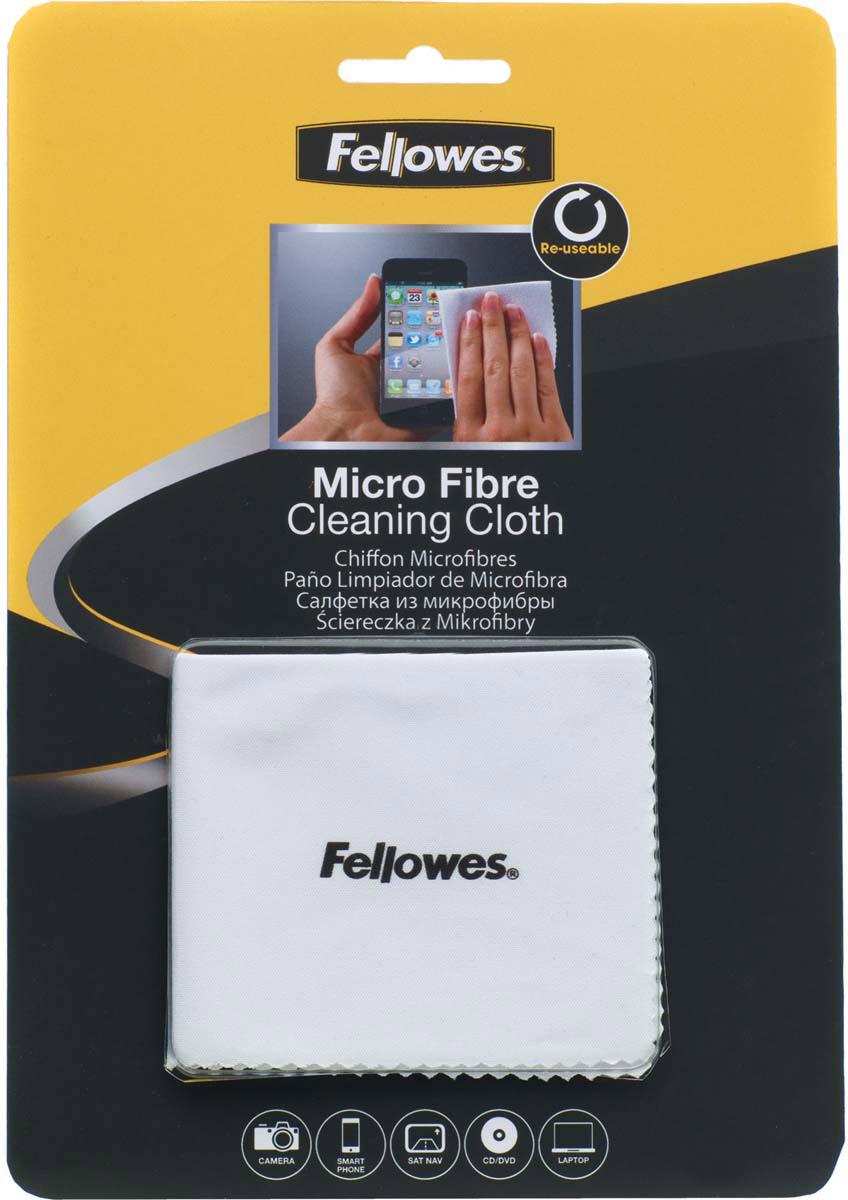 Fellowes FS-99745 салфетка из микрофибры для чистки оптики видеокамер, мониторов, CD/DVD чистящая салфетка fellowes fs 99745 1 шт