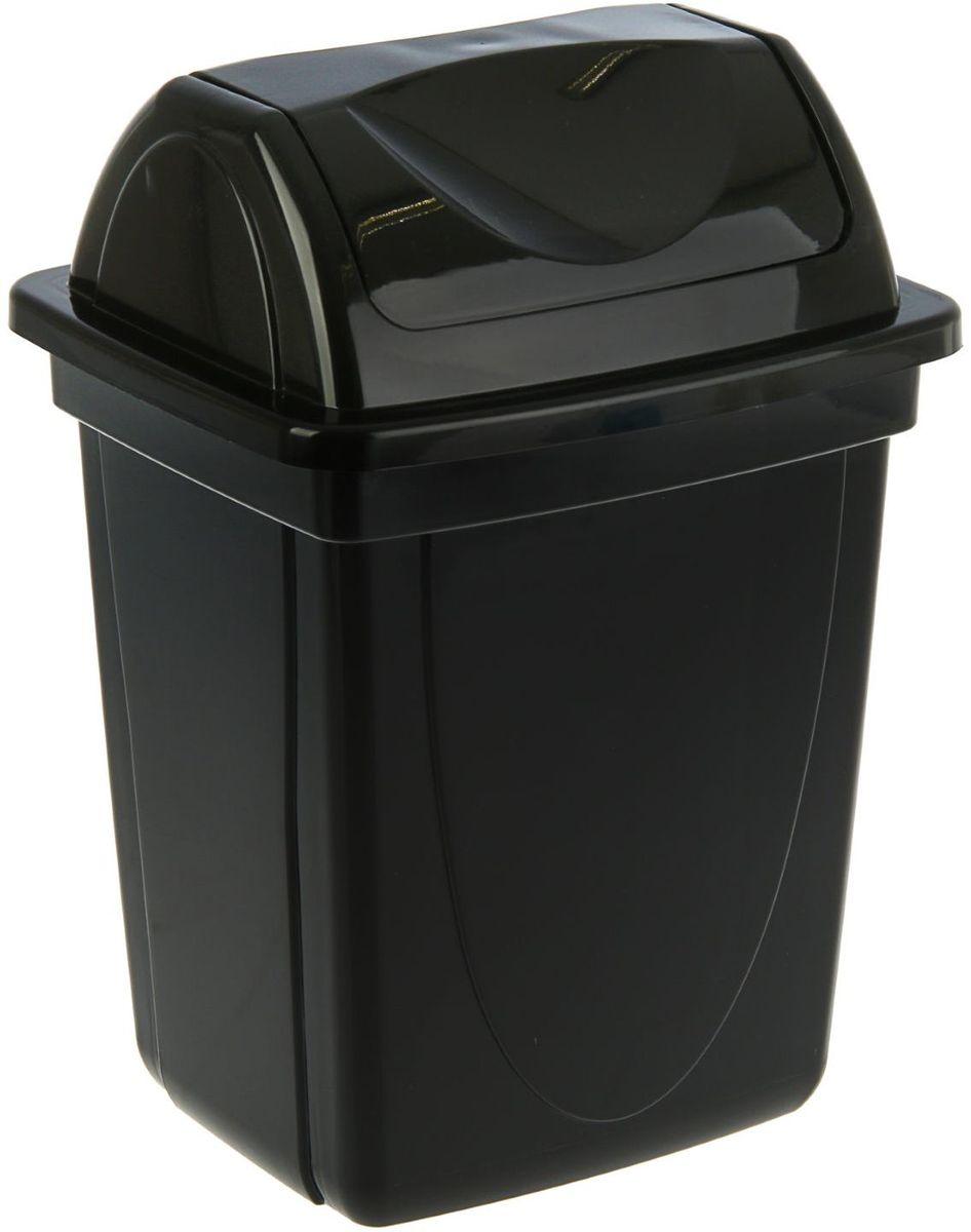 Стамм Корзина для бумаг 12 л цвет черный корзина для бумаг цельнолитая чёрная 12 литров