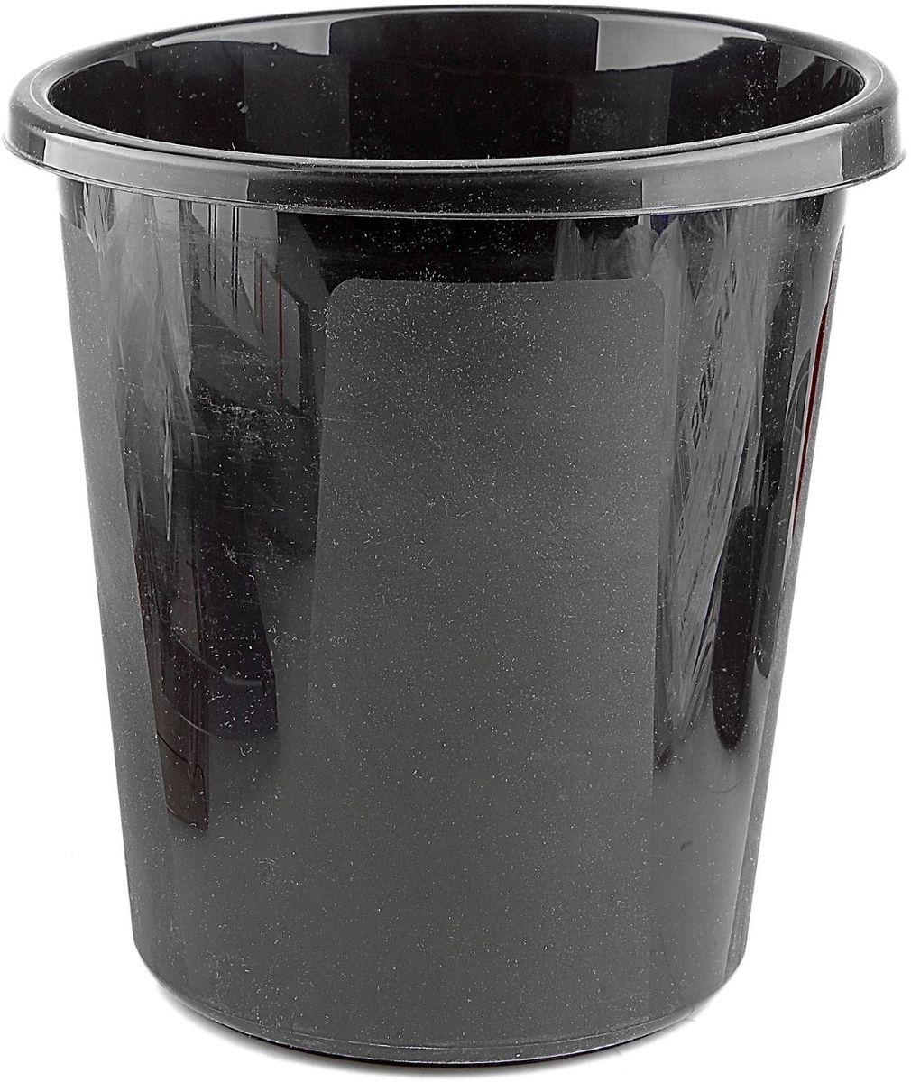 Корзина для бумаг 9 л цвет черный корзина для бумаг цельнолитая черная 18 литров
