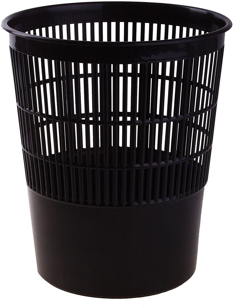 Стамм Корзина для бумаг цвет черный 14 л несгораемая корзина для бумаг 30 л 1056629