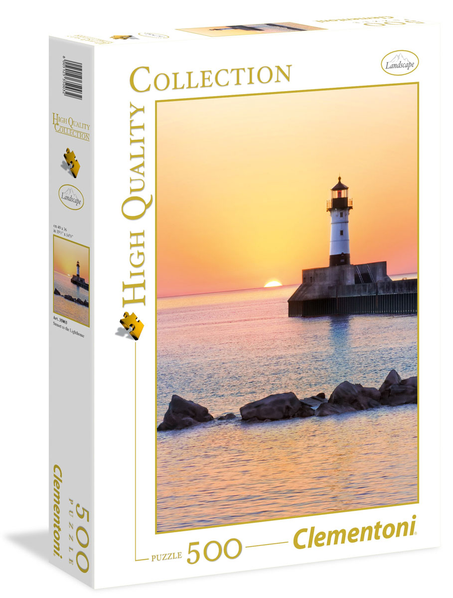 Clementoni Пазл Закат на побережье с маяком пазл восход солнца на побережье clementoni 1500 деталей