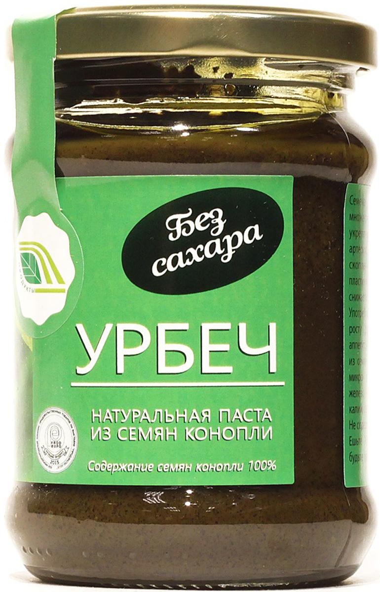 Биопродукты Урбеч натуральная паста из семян конопли, 280 г биопродукты купить