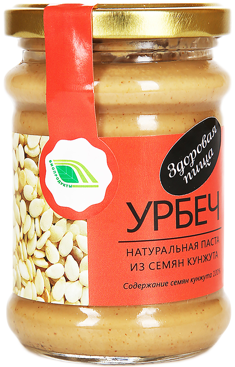 Биопродукты Урбеч натуральная паста из семян кунжута, 280 г биопродукты купить