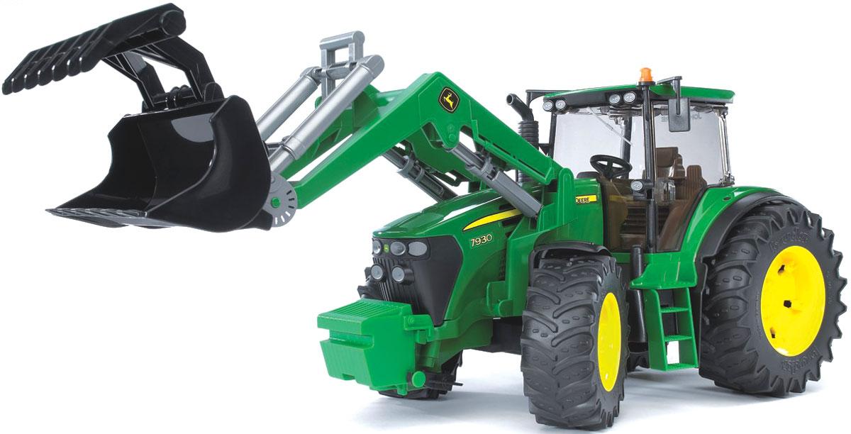 цена на Bruder Трактор John Deere 7930 с фронтальным погрузчиком