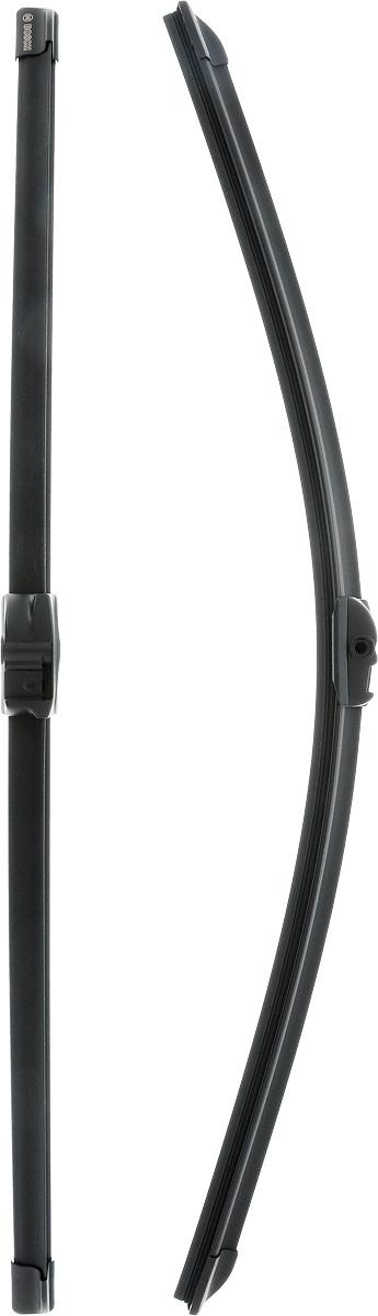 Щетки стеклоочистителя Bosch Aerotwin A053S, бескаркасные, 600 мм, 2 шт бескаркасные щетки стеклоочистителя лобового стекла bosch aerotwin a250s