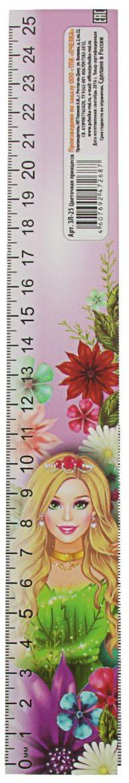 ТПК Пчелка Линейка-закладка Цветочная принцесса 25 см