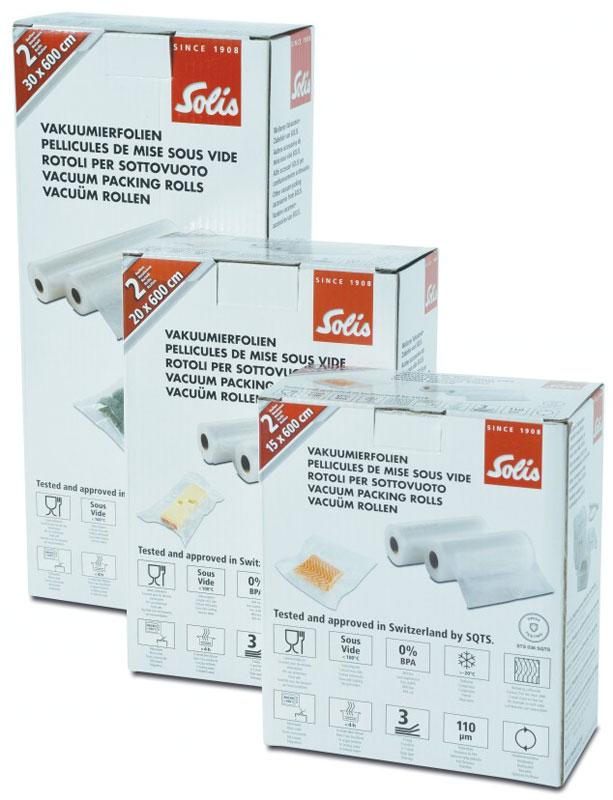Solis Vac, 20х 600 см рулоны для вакуумного упаковщика (2 шт) Solis