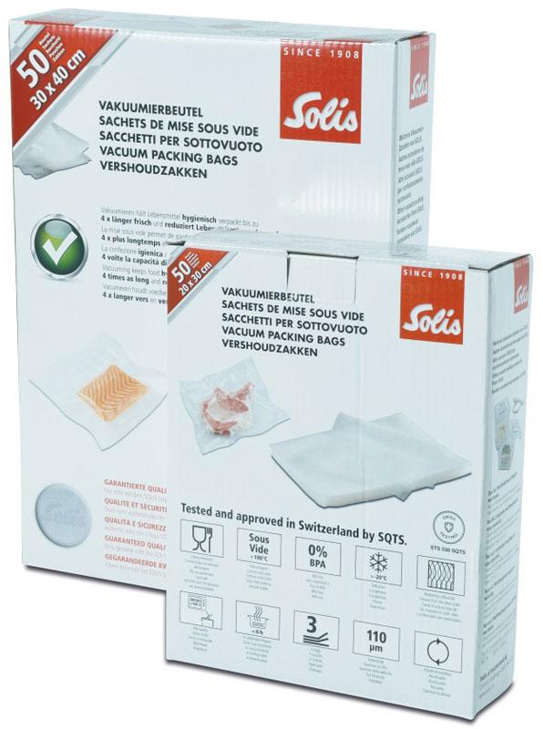 Solis Vac, 20х 30 см пакеты для вакуумного упаковщика (50 шт) Solis