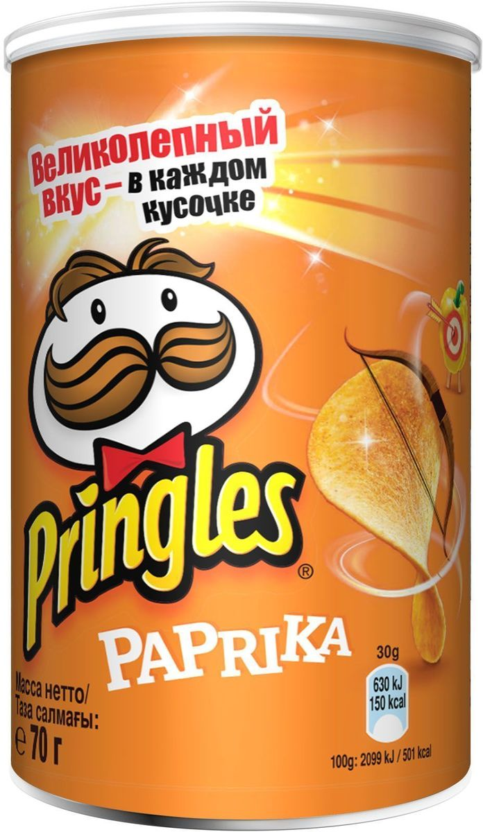Фото - Pringles картофельные чипсы со вкусом паприки, 70 г pringles картофельные чипсы со вкусом краба 70 г