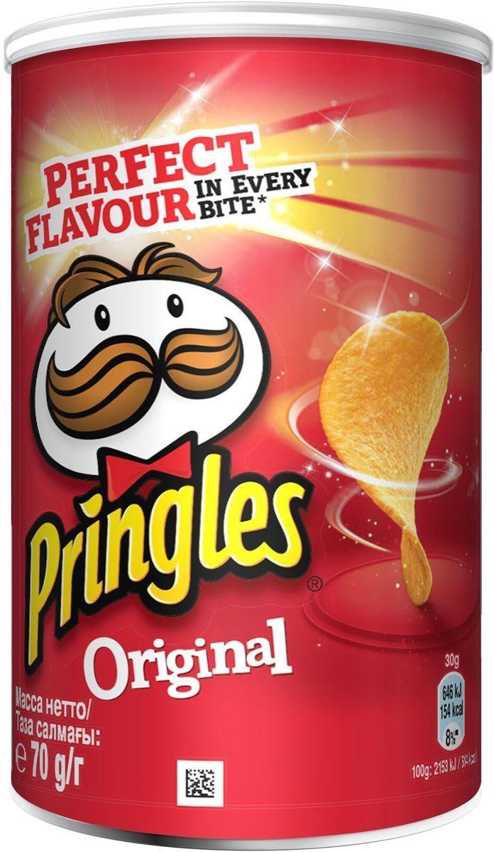 Pringles Original картофельные чипсы, 70 г чипсы bruto тапас сметана лук 75