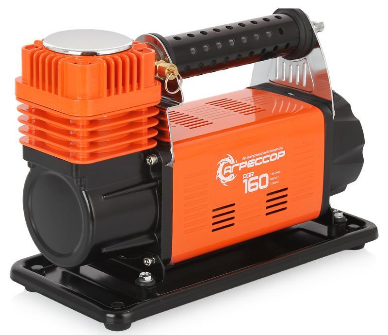 Компрессор автомобильный Агрессор AGR-160, металлический, производительность 160 л/мин, 12В, 600Вт
