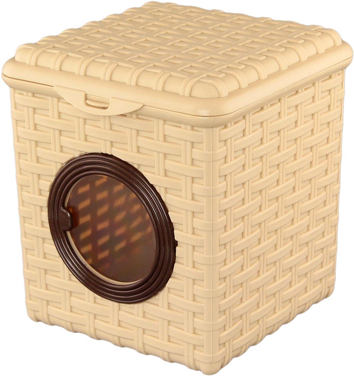 Контейнер для мелочей Violet Ротанг, 17 х 19 х 19 см контейнер giaretti цвет кремовый прозрачный 29 2 х 17 х 11 см