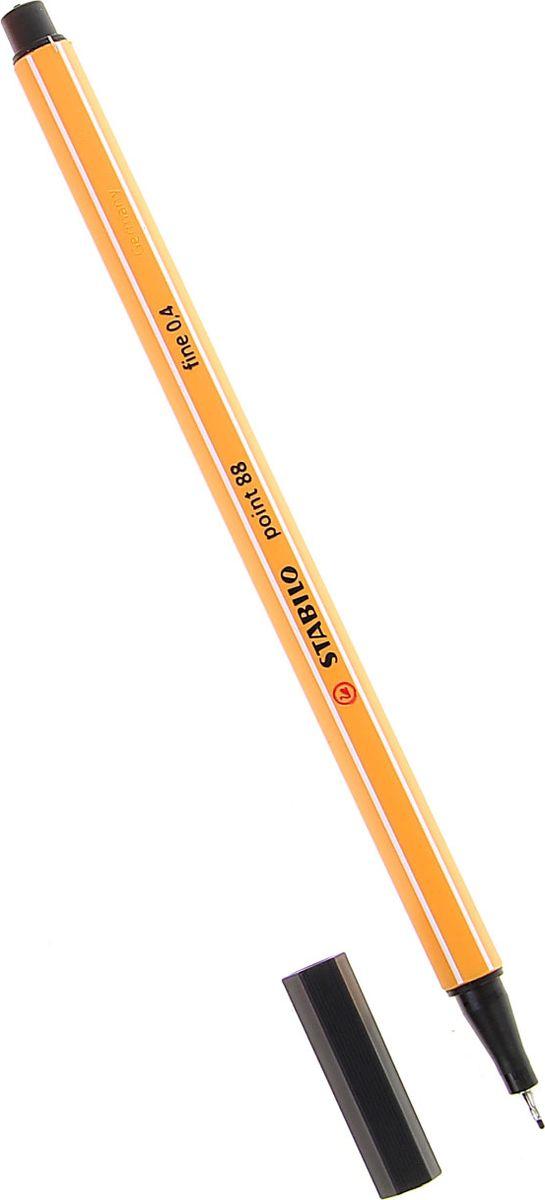 STABILO Ручка капиллярная Point 88 цвет чернил черный stabilo ручка капиллярная point 88 цвет чернил зеленый