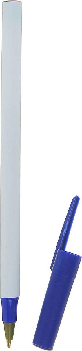 Calligrata Ручка шариковая цвет корпуса белый синий синяя calligrata ручка шариковая конус синяя
