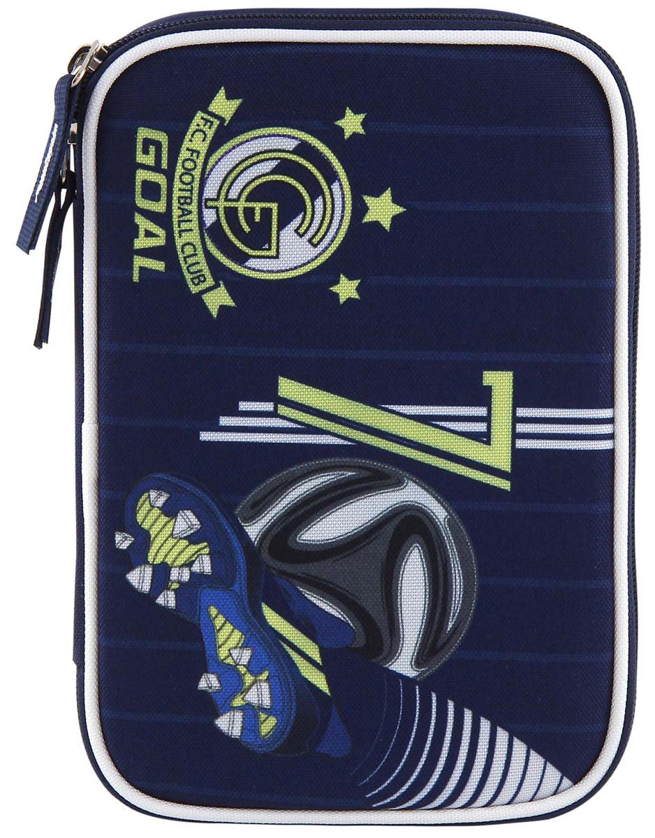 Target Пенал FC Real Madrid с наполнением17234Пенал Target FC Real Madrid станет не только практичным, но и стильным школьным аксессуаром. Пенал очень вместительный и с ярким дизайном. Состоит из одного отделения на молнии с откидной плотной створкой. В наполнение пенала входит: 3 шариковых ручки, 2 черно-графитных карандаша, 12 цветных карандашей бренда FILA (Италия), 12 фломастеров бренда FILA (Италия), ластик, точилка, клей и ножницы. Такой пенал станет незаменимым помощником для школьника, с ним ручки и карандаши всегда будут под рукой и больше не потеряются.