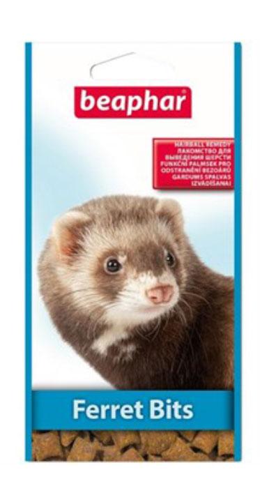 Подушечки для хорьков Beaphar Ferret Bits, с мальт-пастой, 35 г лакомство от волосяных комочков для хорьков beaphar ferret bits