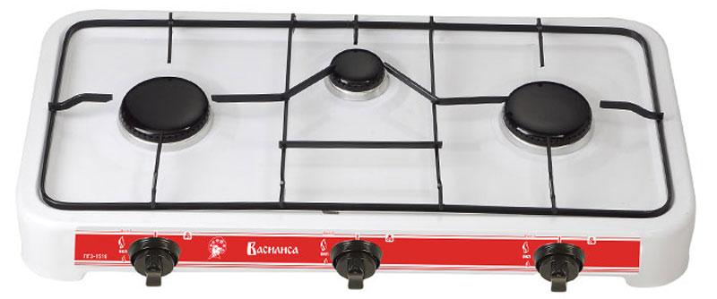 Настольная плита Василиса ГП3-1510, White газовая