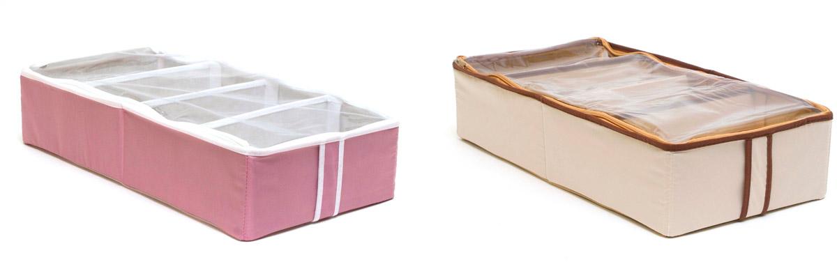 Набор органайзеров для хранения обуви Homsu, на 8 пар, 51 х 25 х 12 см, 2 шт набор органайзеров для хранения обуви homsu на 8 пар 51 х 25 х 12 см 2 шт