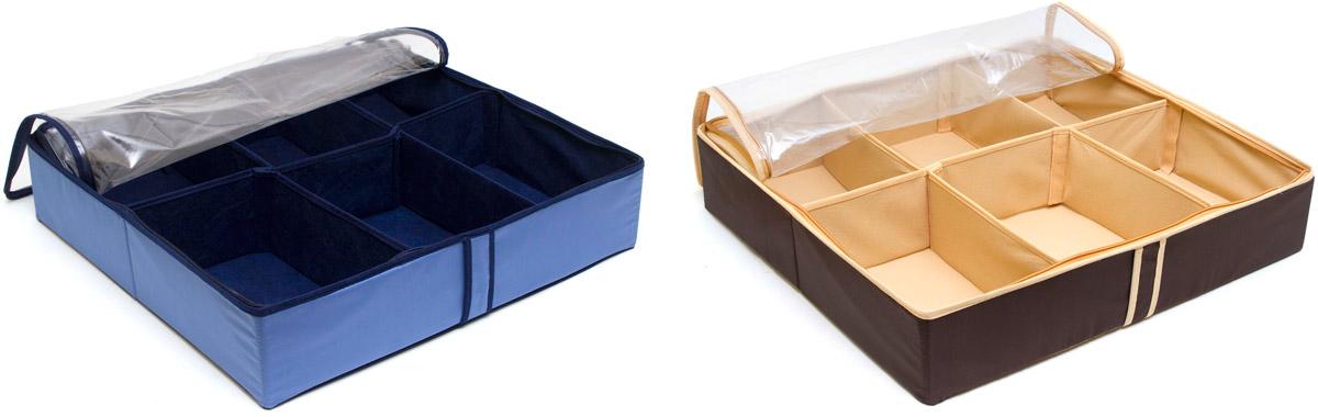 Набор органайзеров для хранения обуви Homsu, на 12 пар, 54 х 51 х 12 см, 2 шт набор органайзеров для хранения обуви homsu на 8 пар 51 х 25 х 12 см 2 шт