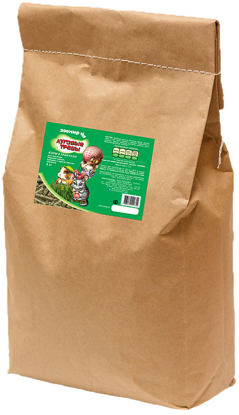 """Корм для грызунов и кроликов Зоомир """"Луговые травы"""", 5 кг"""