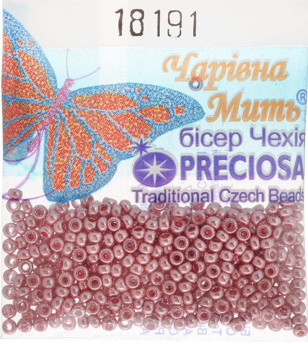 Бисер Preciosa, непрозрачный, глянцевый, цвет: серо-розовый (18191), 10/0, 5 г бисер preciosa непрозрачный глянцевый цвет салатовый 53230 10 0 5 г