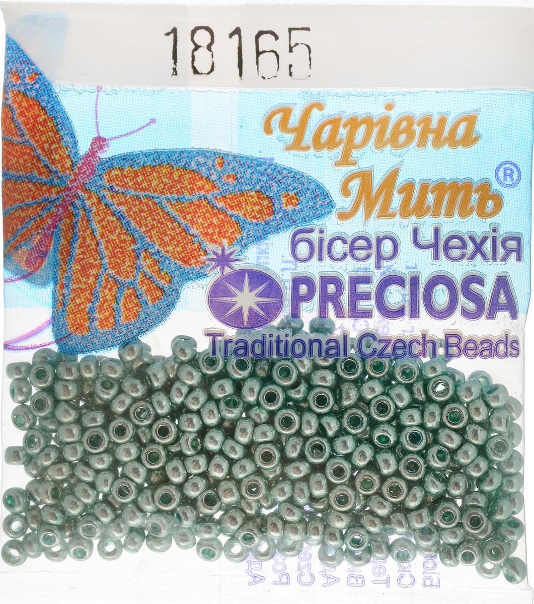Бисер Preciosa, непрозрачный, глянцевый, цвет: светло-бирюзовый (18165), 10/0, 5 г бисер preciosa ассорти непрозрачный глянцевый цвет светло лиловый 03195 10 0 20 г