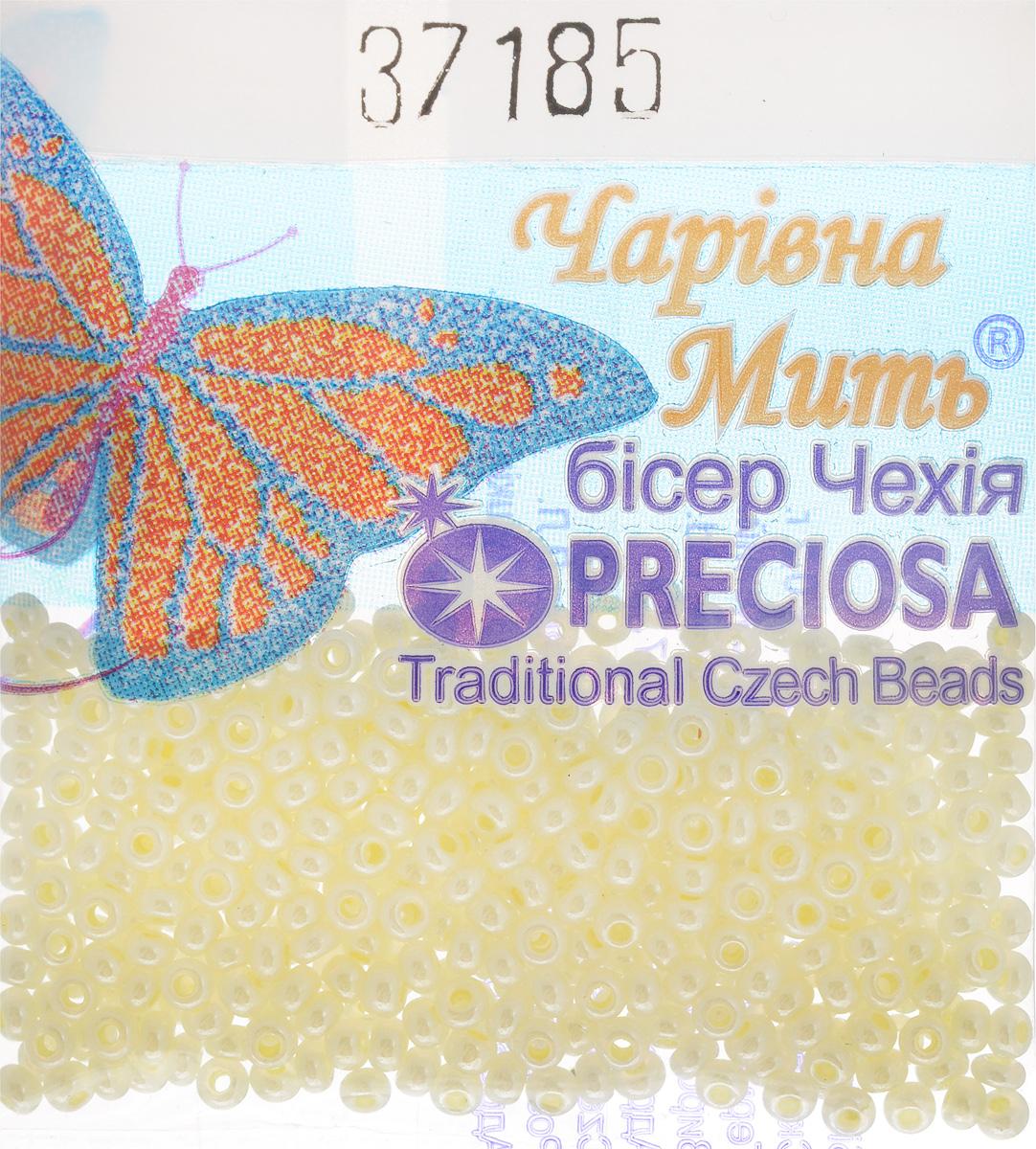 Бисер Preciosa, непрозрачный, глянцевый, цвет: светло-желтый (37185), 10/0, 5 г бисер preciosa ассорти непрозрачный глянцевый цвет светло лиловый 03195 10 0 20 г