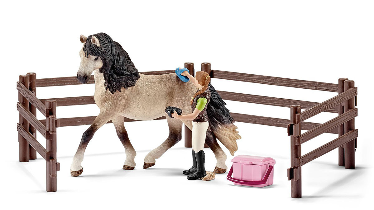 Schleich Игровой набор для ухода за андалузской лошадью schleich игровой набор для ухода за андалузской лошадью