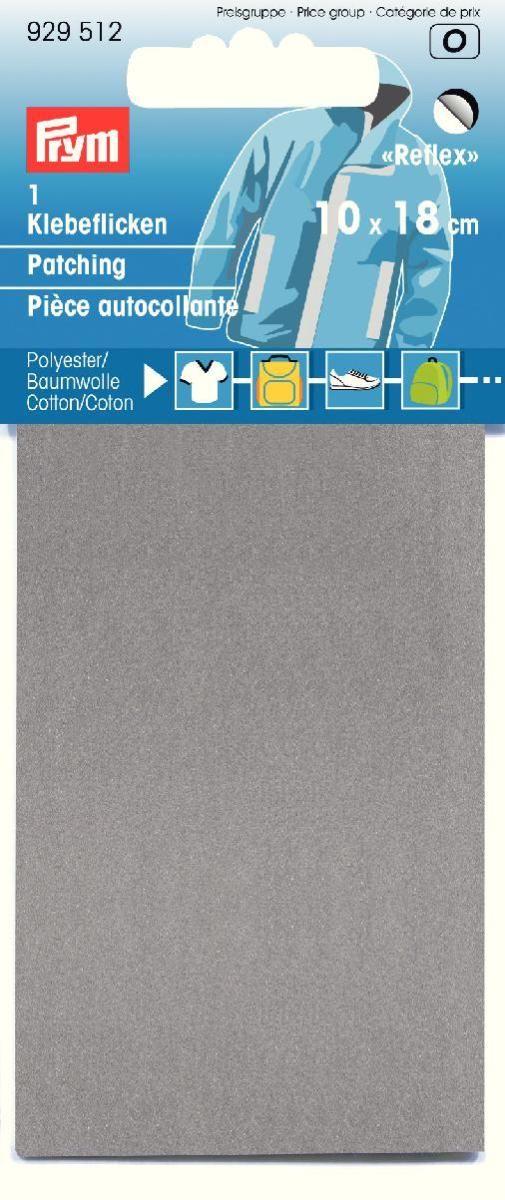 Заплатка Prym, самоклеящаяся, светоотражающая, цвет: серебристый, 6,7 х 16 см заплатка marbet самоклеющаяся цвет васильковый 16 х 10 см 123