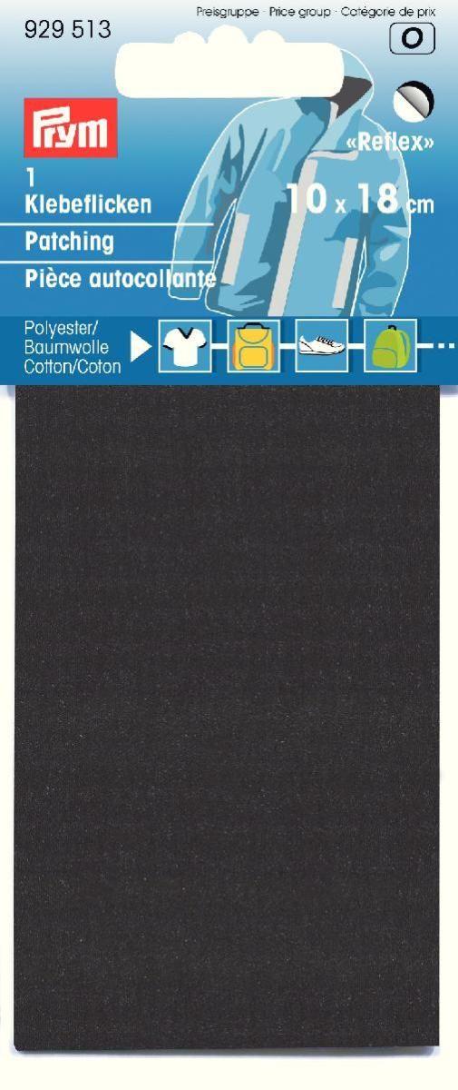 Заплатка Prym, самоклеящаяся, светоотражающая, цвет: черный, 6,7 х 16 см заплатка marbet самоклеющаяся цвет васильковый 16 х 10 см 123