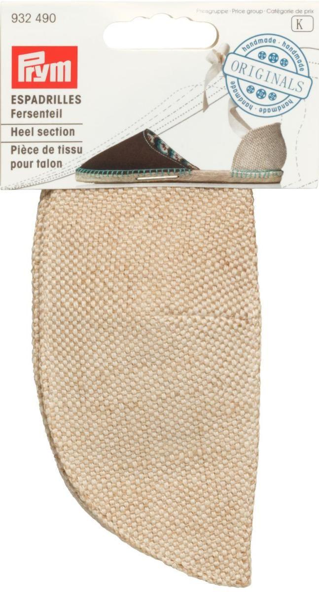 Деталь пятки Prym Эспадрильи, цвет: натуральный, 2 шт материал для верха эспадрилий prym цвет морской песок 40 х 55 см