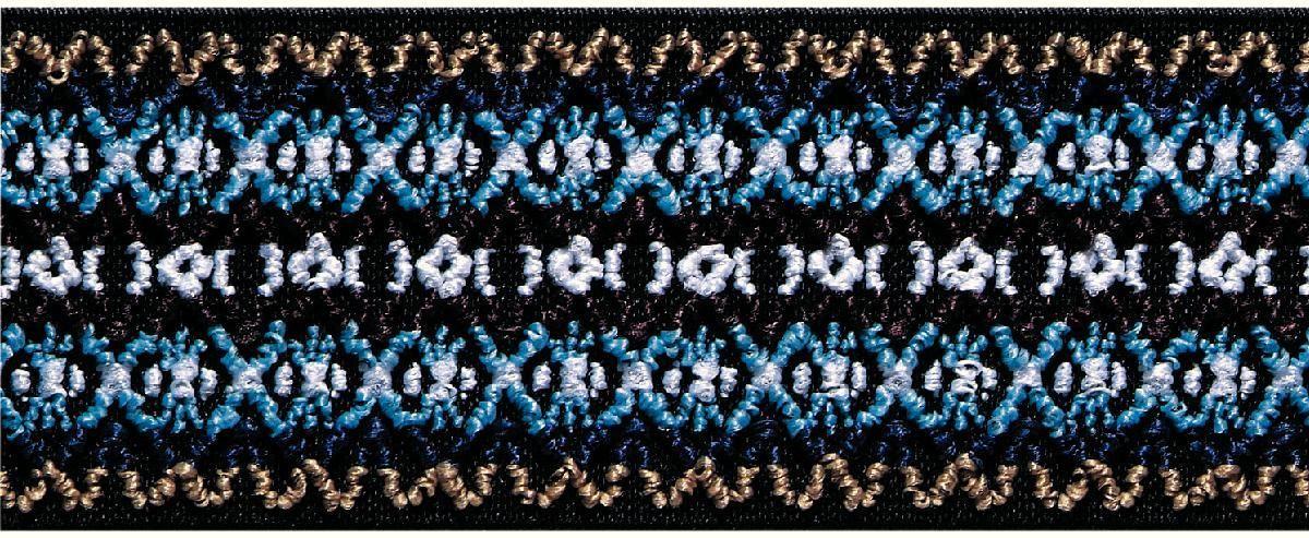 Лента эластичная Prym Color. Узор, цвет: синий, 50 мм, 7 м световозвращающая лента oralite reflexite vc104 tanker stickers для жесткого борта для цистерн белая 50 м