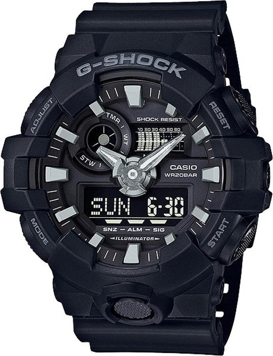Наручные часы мужские Casio G-Shock, цвет: черный. GA-700-1BGA-700-1B